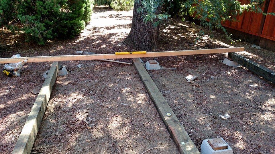 Aligning the foundation beams laterally and longitudinally.