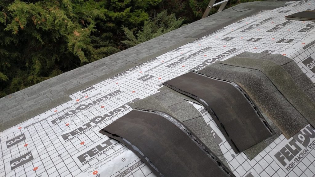 Laying out the shingles